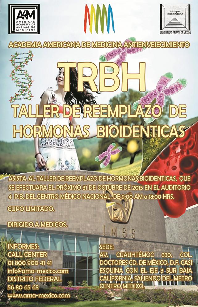 poster - taller de reeplazo de hormonas bioidenticas 2015