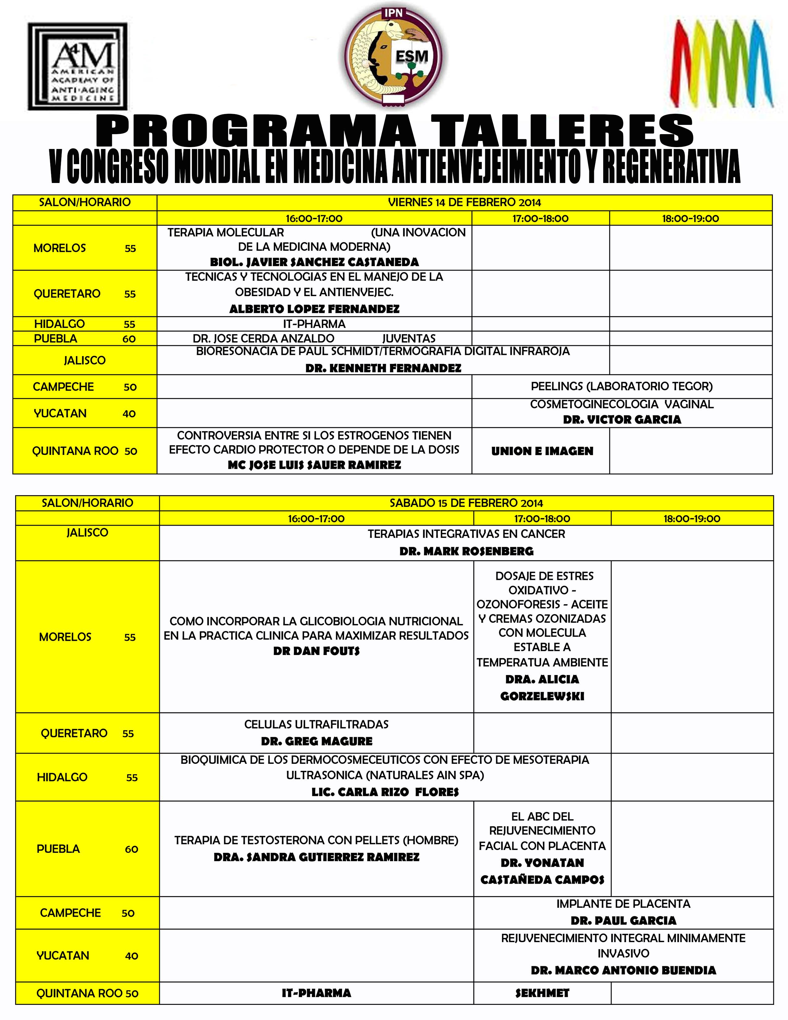 Programa TALLERES